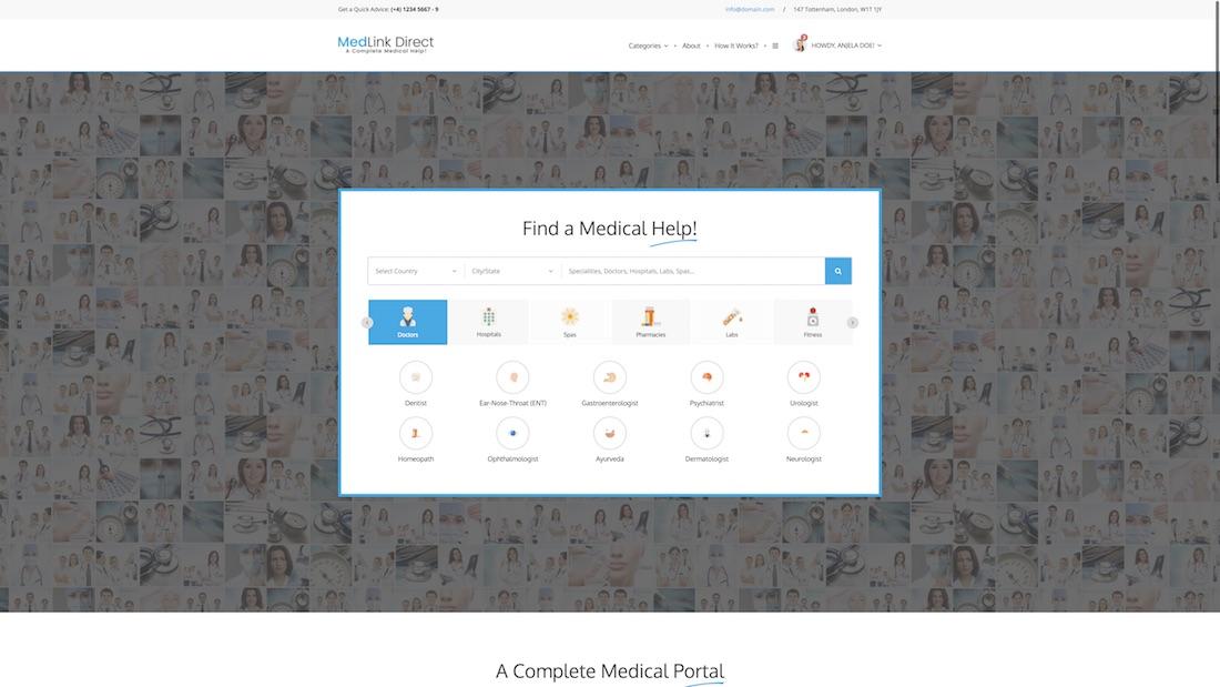 medlink direct website template