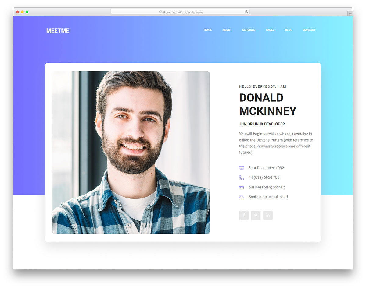 Resume Website Amazing Most Popular Free Resume Website Templates 48 Colorlib