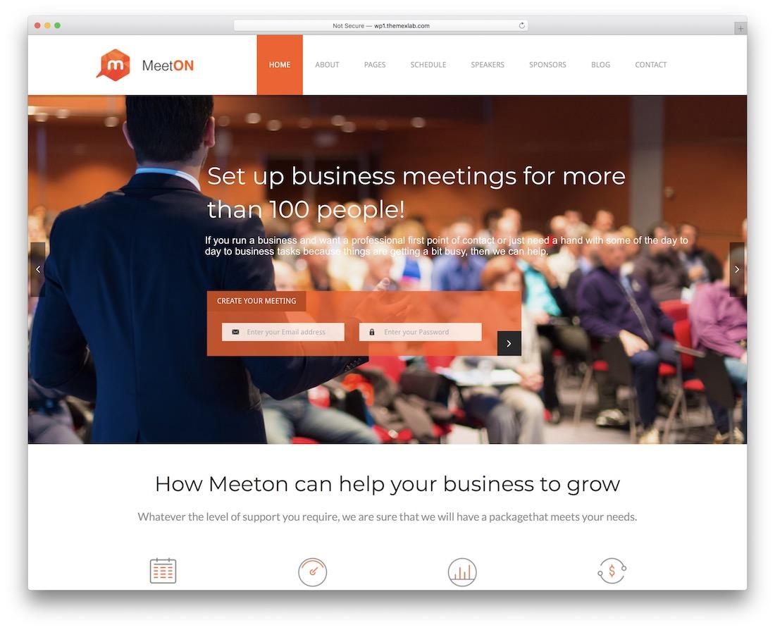 meeton event planner wordpress theme
