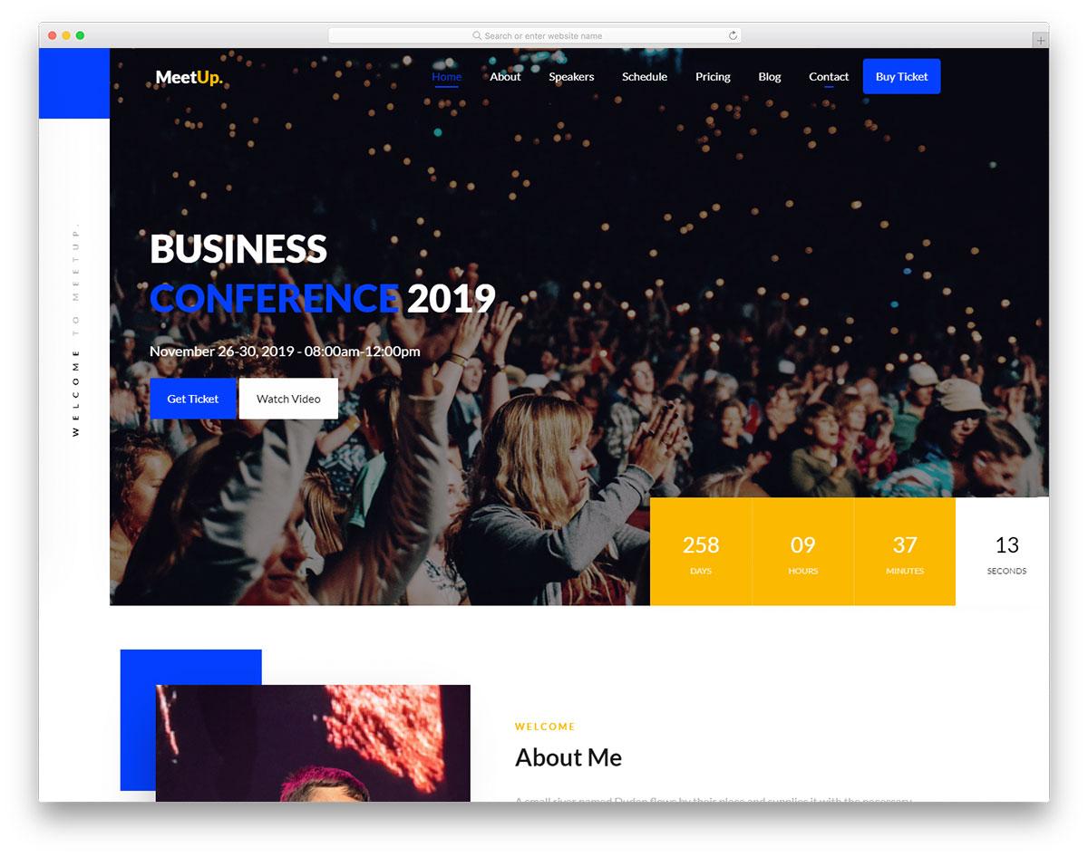 meetup free template