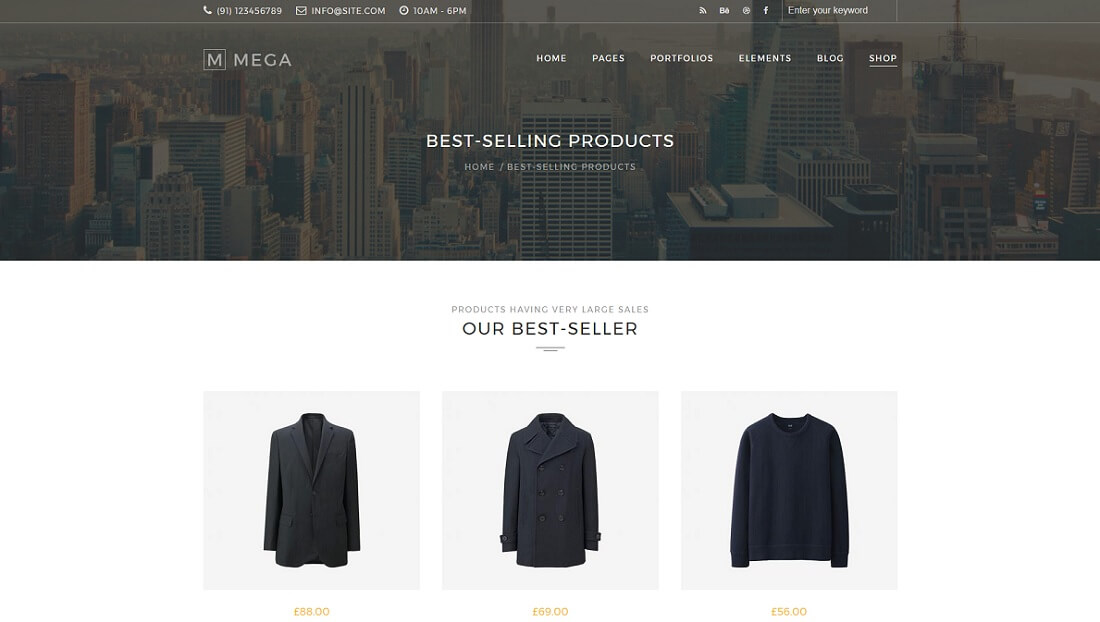 mega drupal commerce template