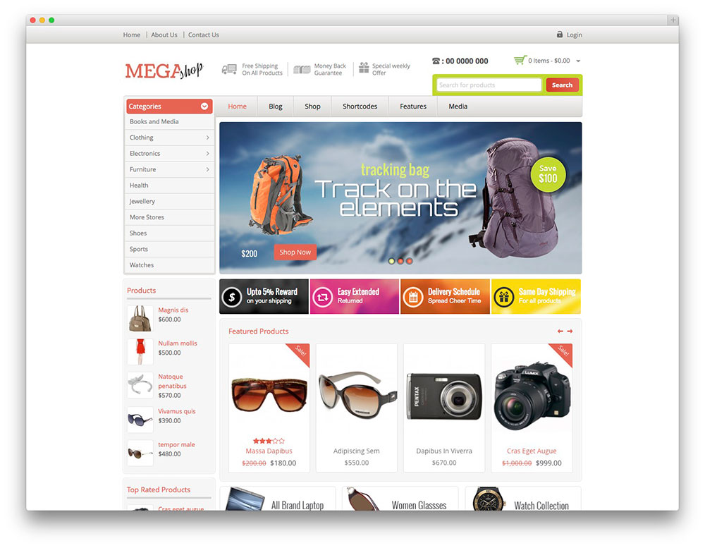 Mega Shop WordPress themes