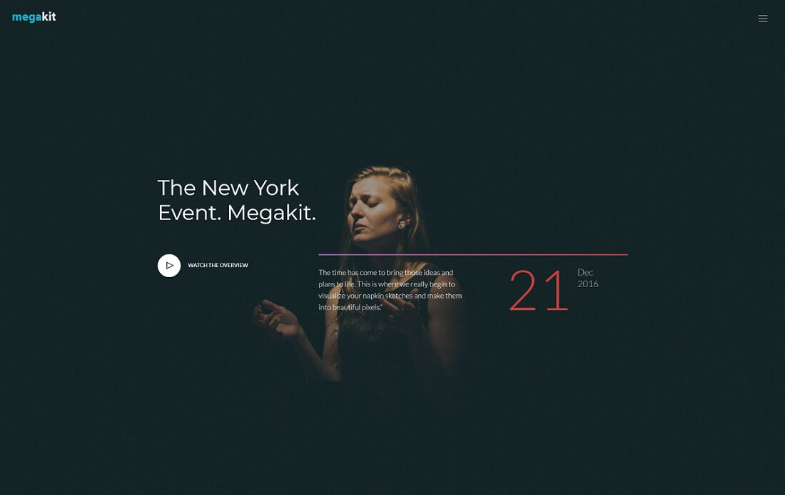 megakit free event website template