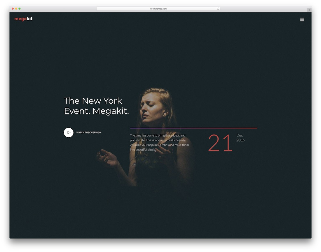 megakit responsive free event website template