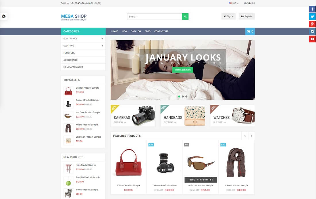 megashop shopify technology theme