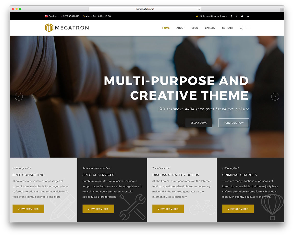 20+ Best Lawyer WordPress Themes For Private Attorneys and Law Firms ...