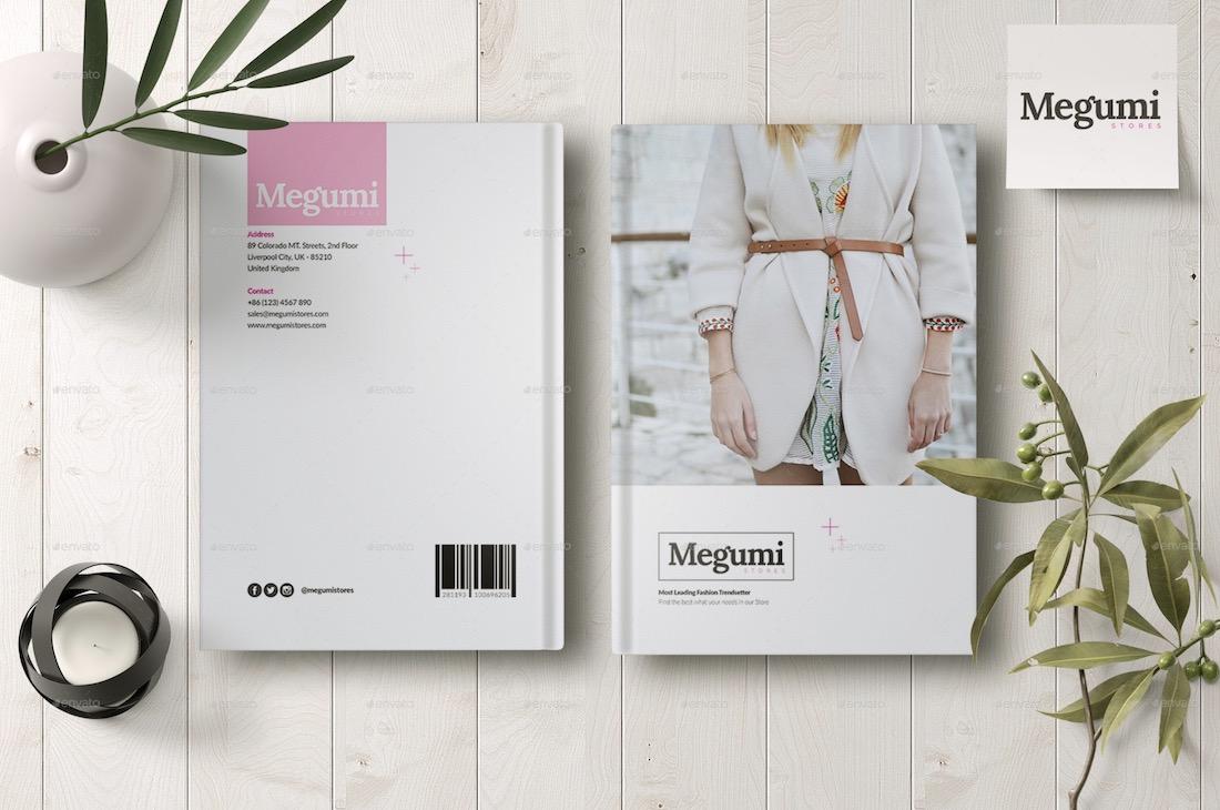 megumi magazine cover mockup