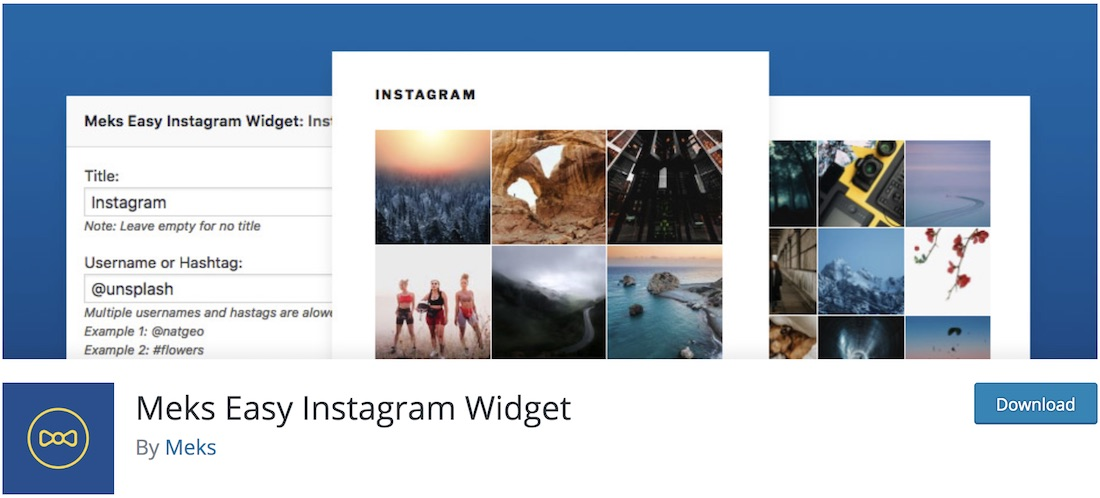 meks easy instagram widget