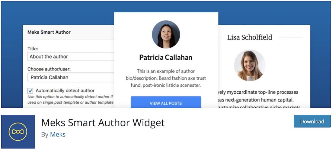 meks smart author widget wordpress user management plugin