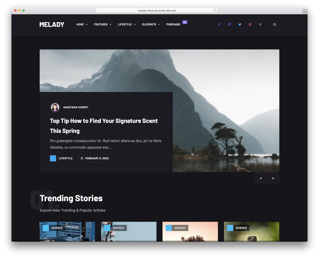 melady magazine wordpress theme