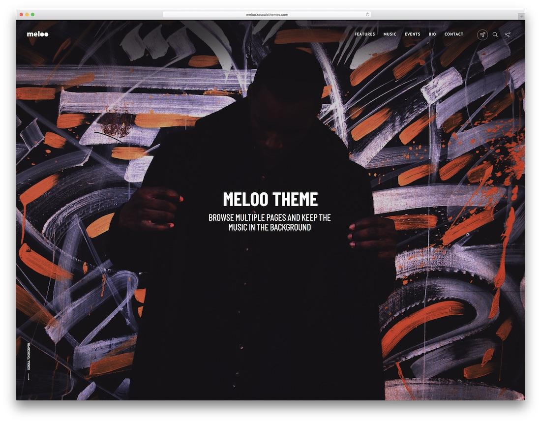 meloo musician website template