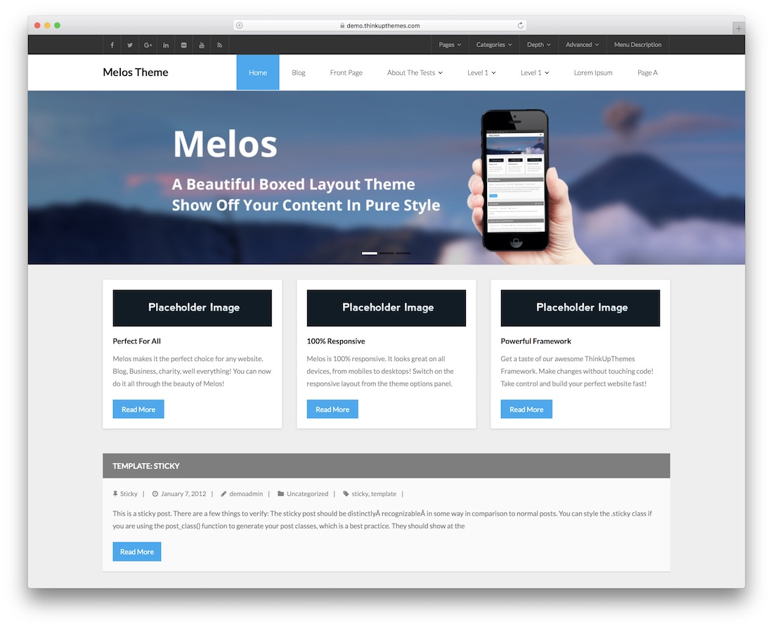 melos minimal free wordpress theme