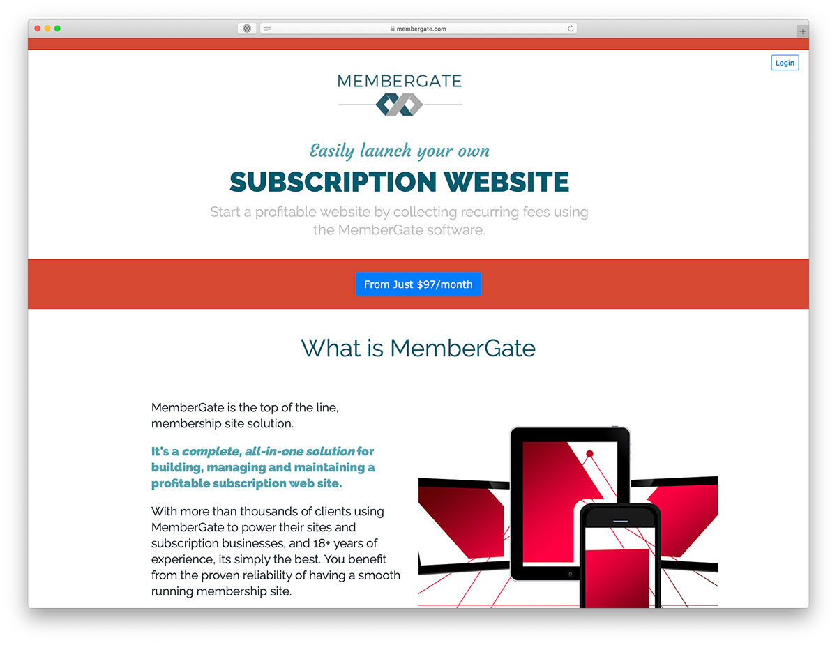 Subscription website builder