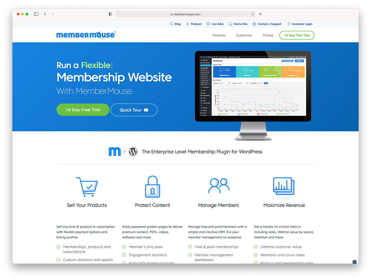 Membermouse membership platform