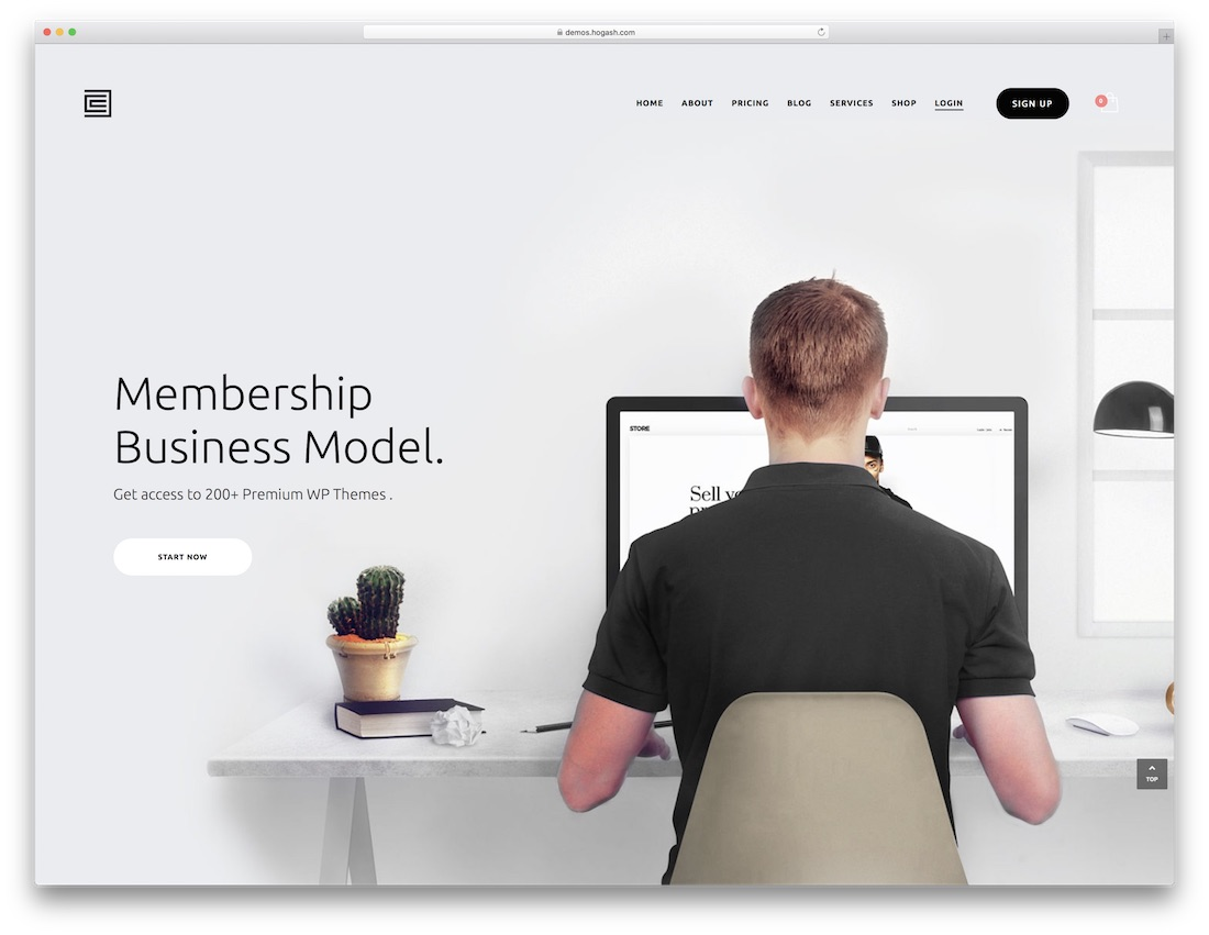 membership html5 one page website template