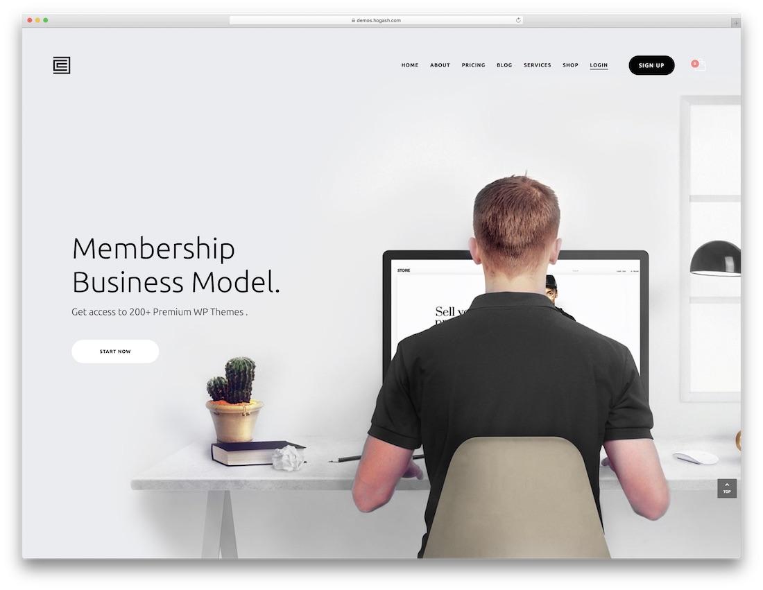 membership parallax website template