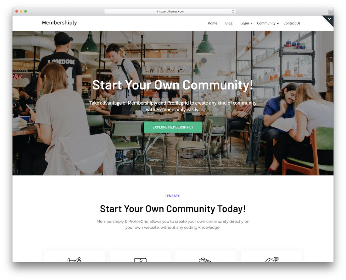 membershiply free flat design wordpress theme