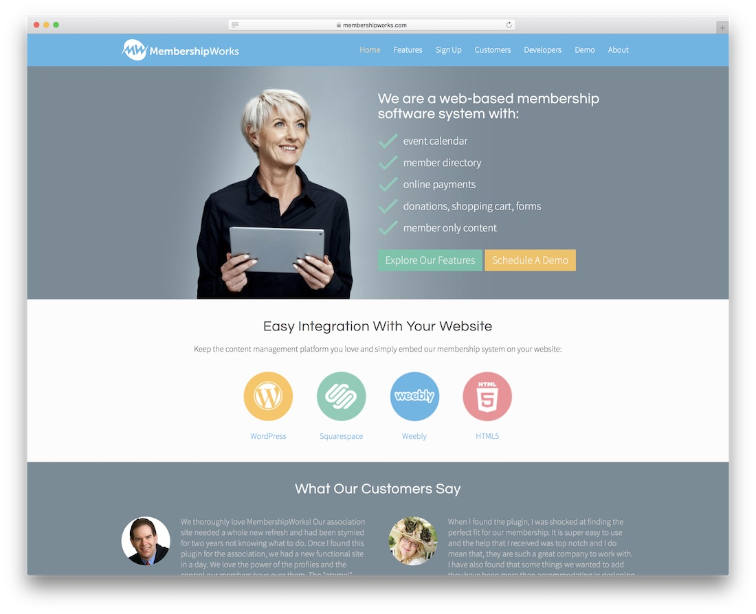 membershipworks membership website builder