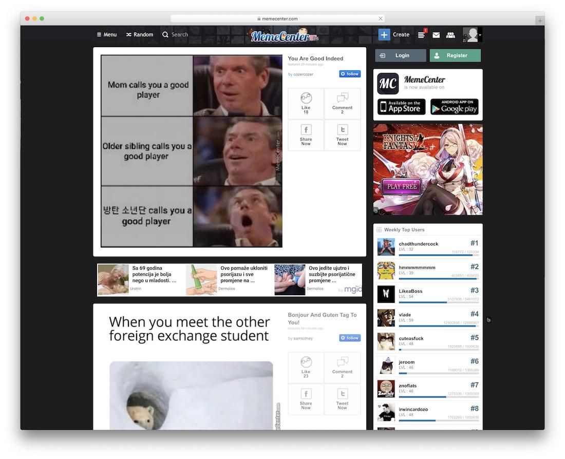 memecenter social media graphics
