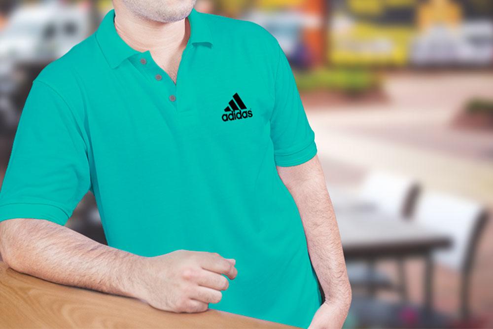 men collar t-shirt mockup