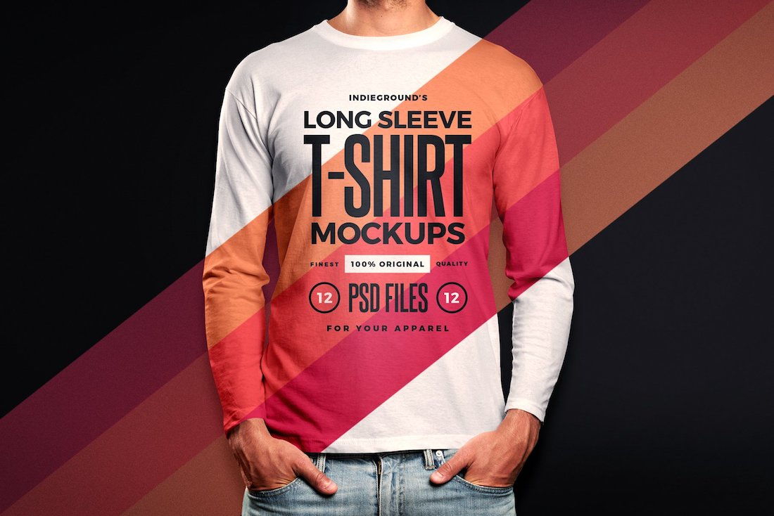 men long sleeve shirt mockups