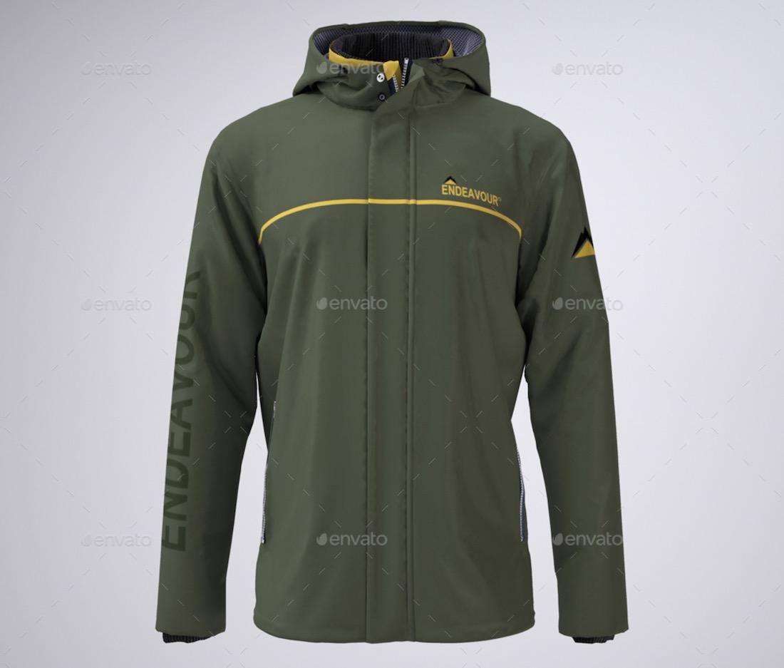 mens work jacket mockup
