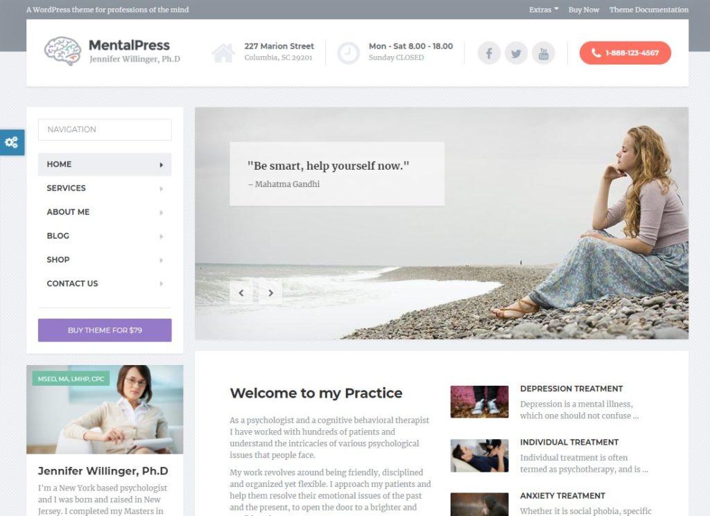 MentalPress | WordPress Theme for your Medical or Psychology Website