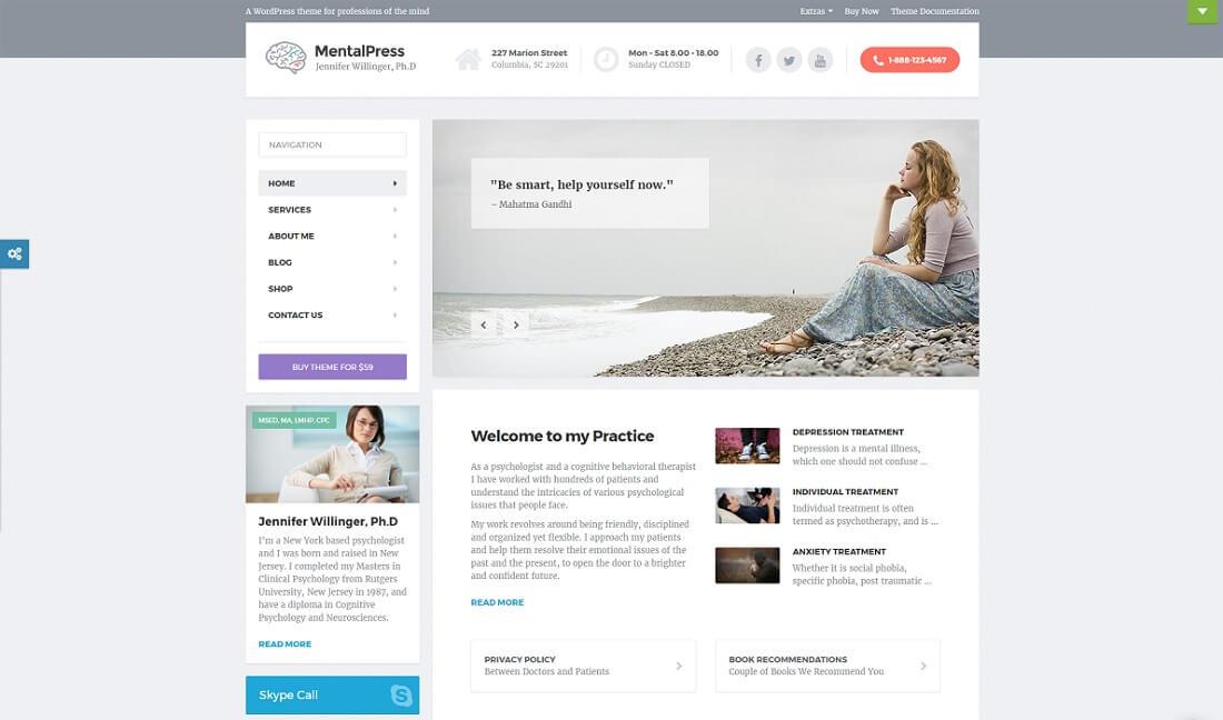 mentalpress salon ecwid compatible theme