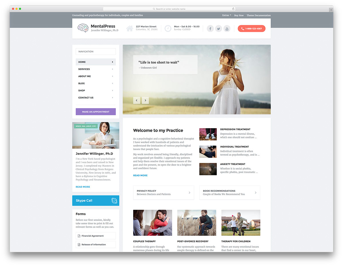 mentalpress-simple-doctor-website-template