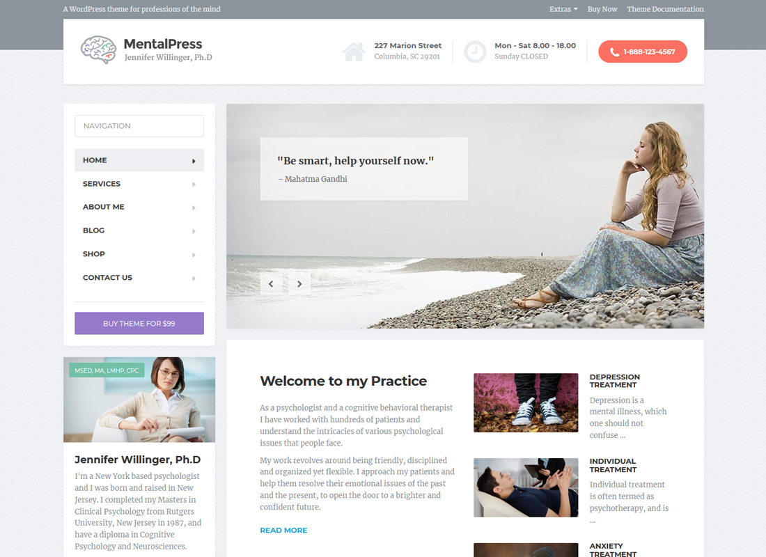 MentalPress | WP Theme for your Medical or Psychology Website