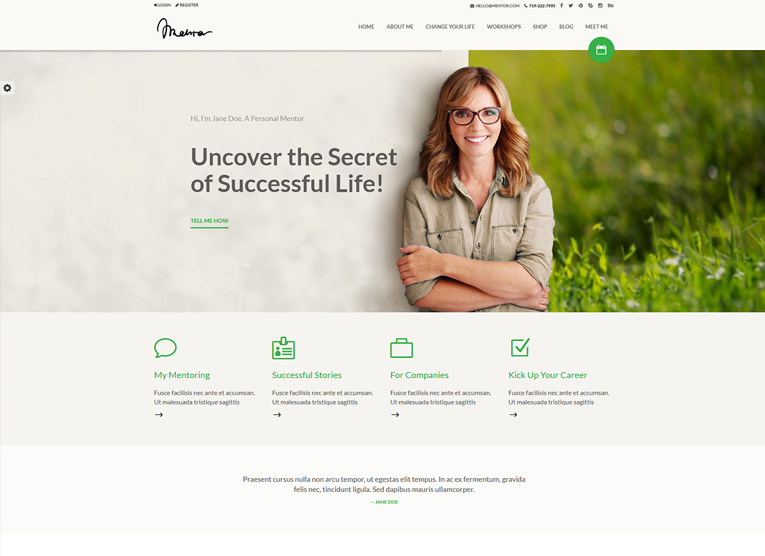 Mentor | Personal Development Coach WordPress Theme