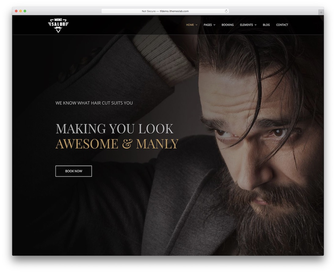 menzsaloon tattoo salon wordpress theme