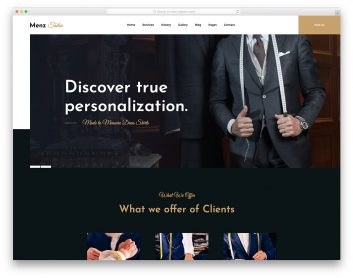 MenzTailor Free Template