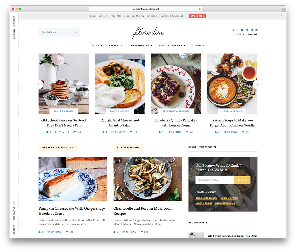 meridian-recipes-simple-food-blog-theme