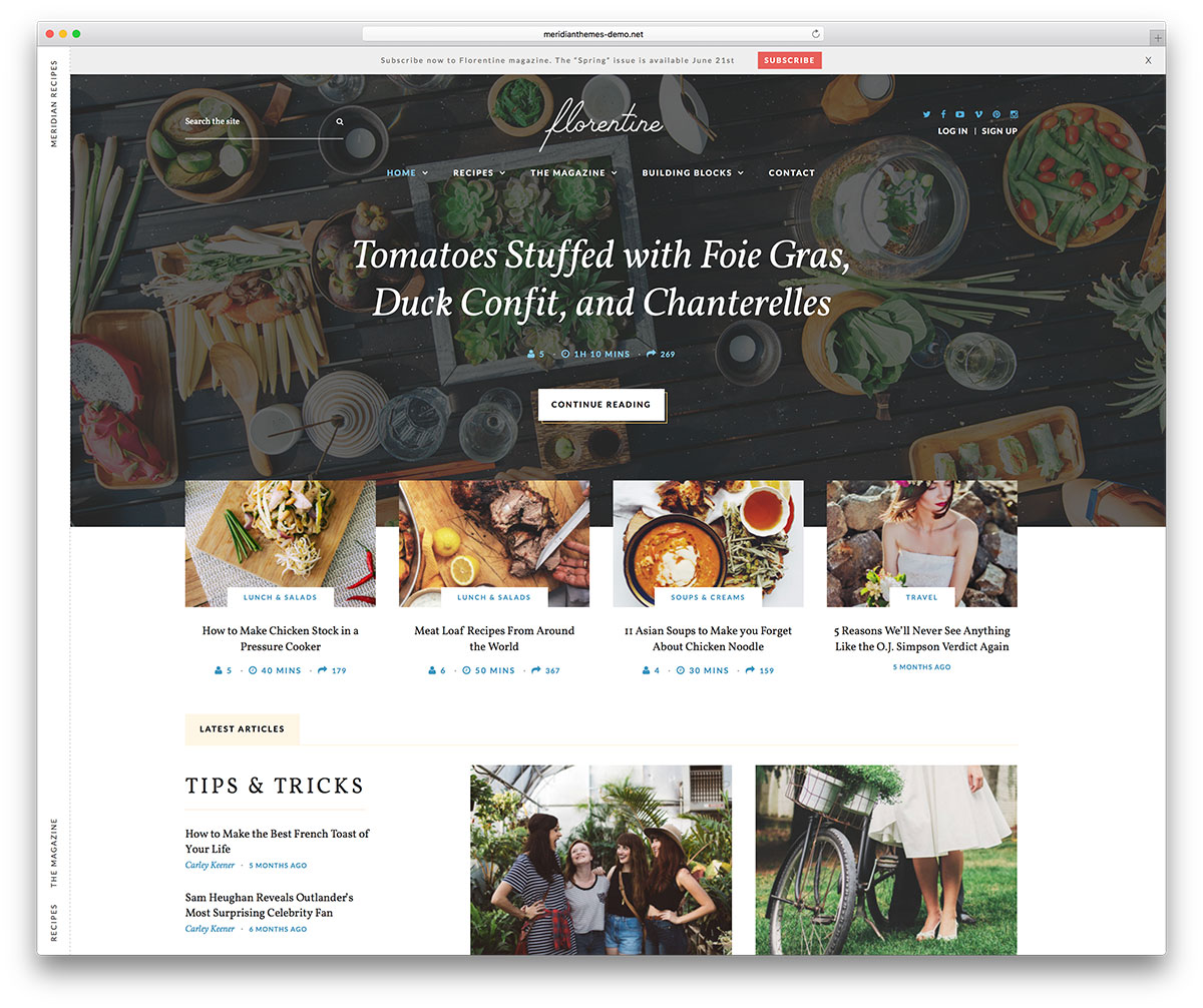 meridian-recipes-wordpress-theme