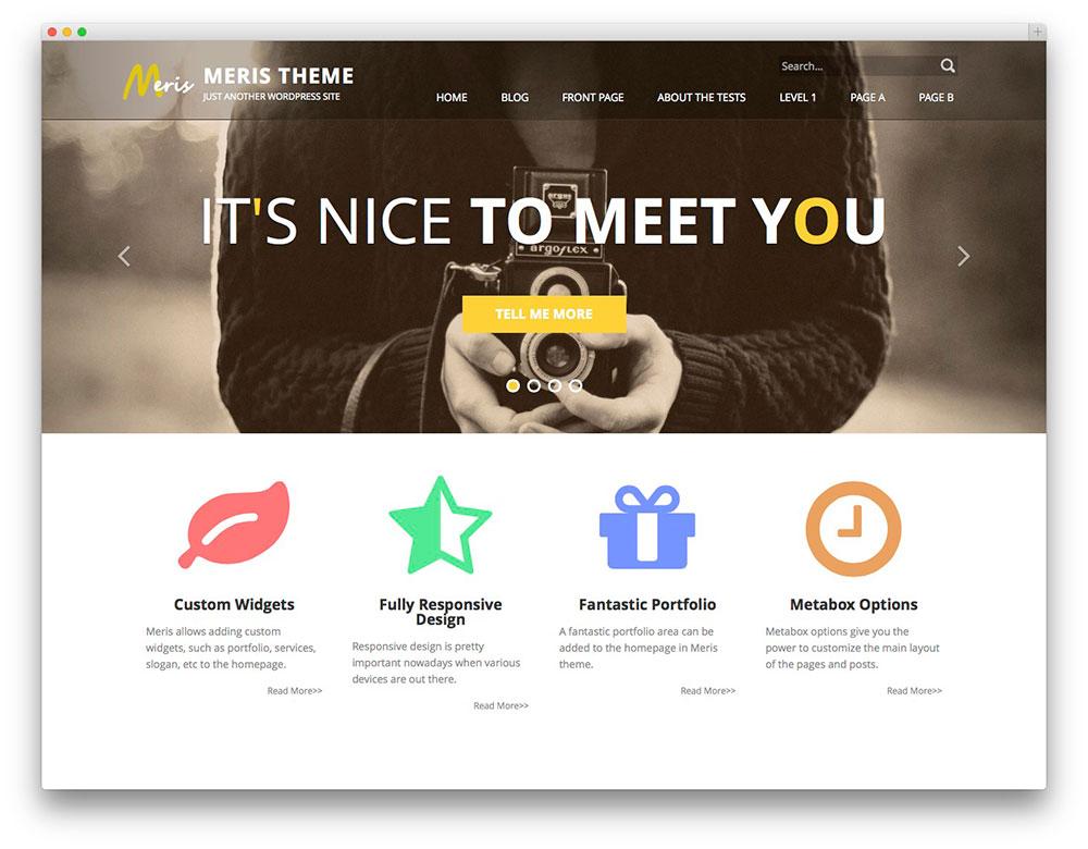Meris - free portfolio theme
