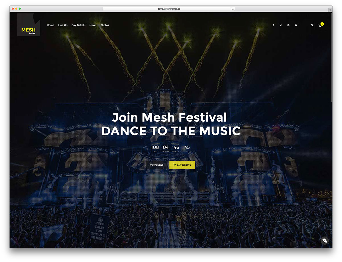 mesh-music-event-website-template