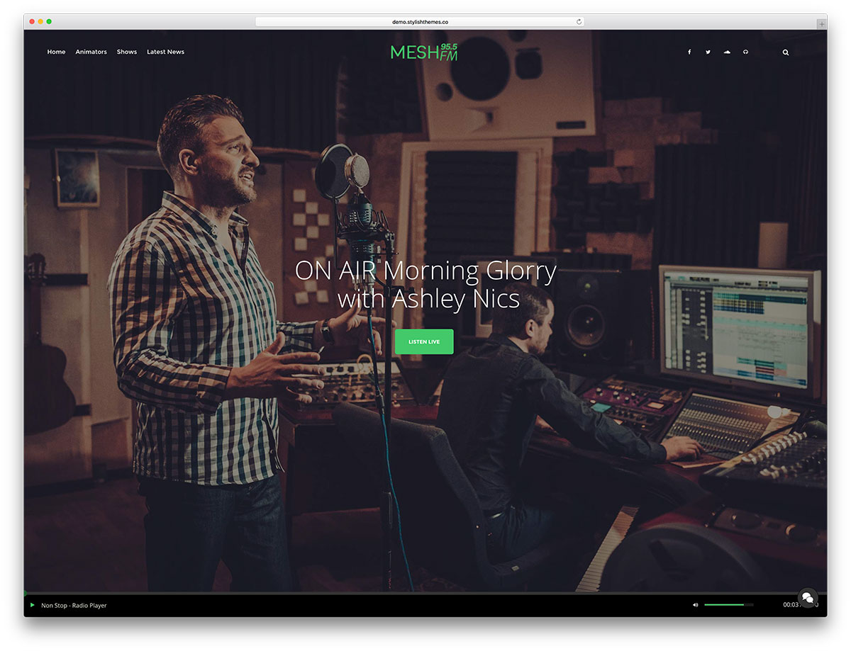 mesh-radio-website-template