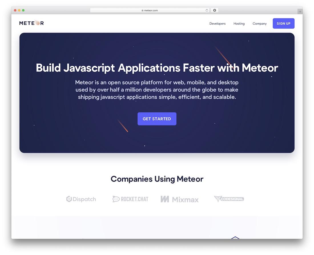 meteor javascript framework