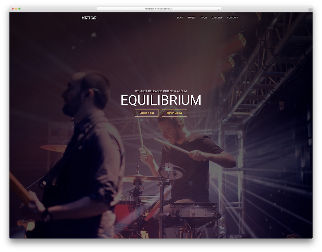 method band website template