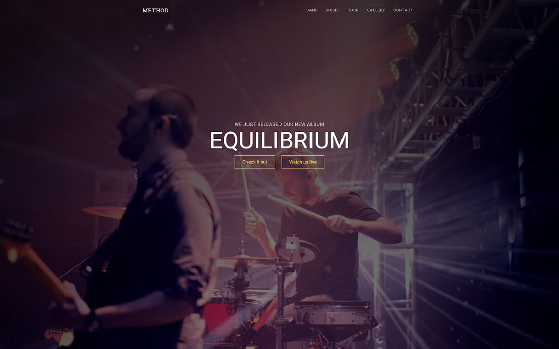 method free music website template