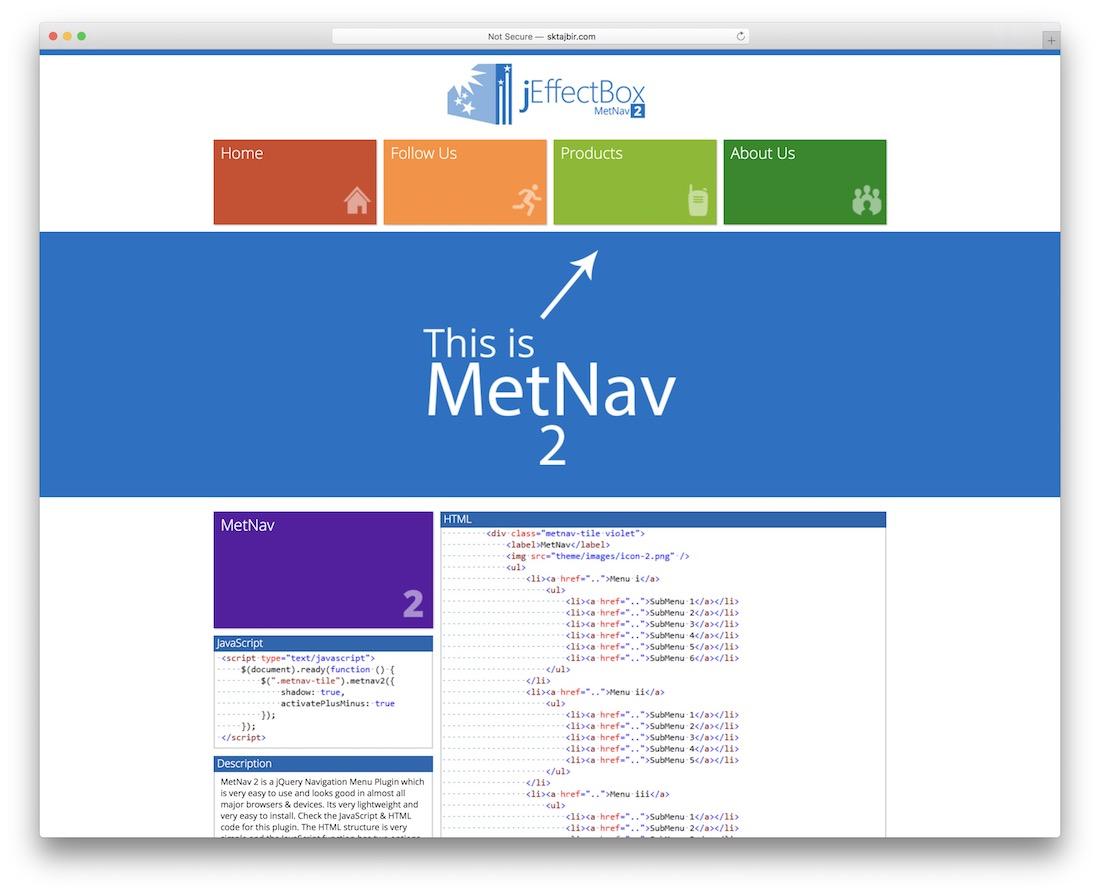 metnav 2 another jquery metro ui navigation menu