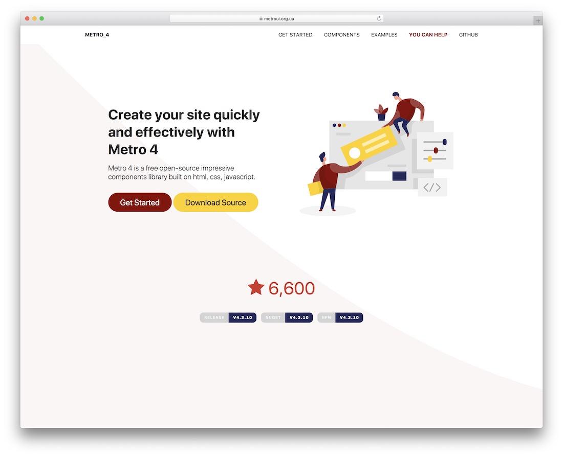 metro 4 html5 framework