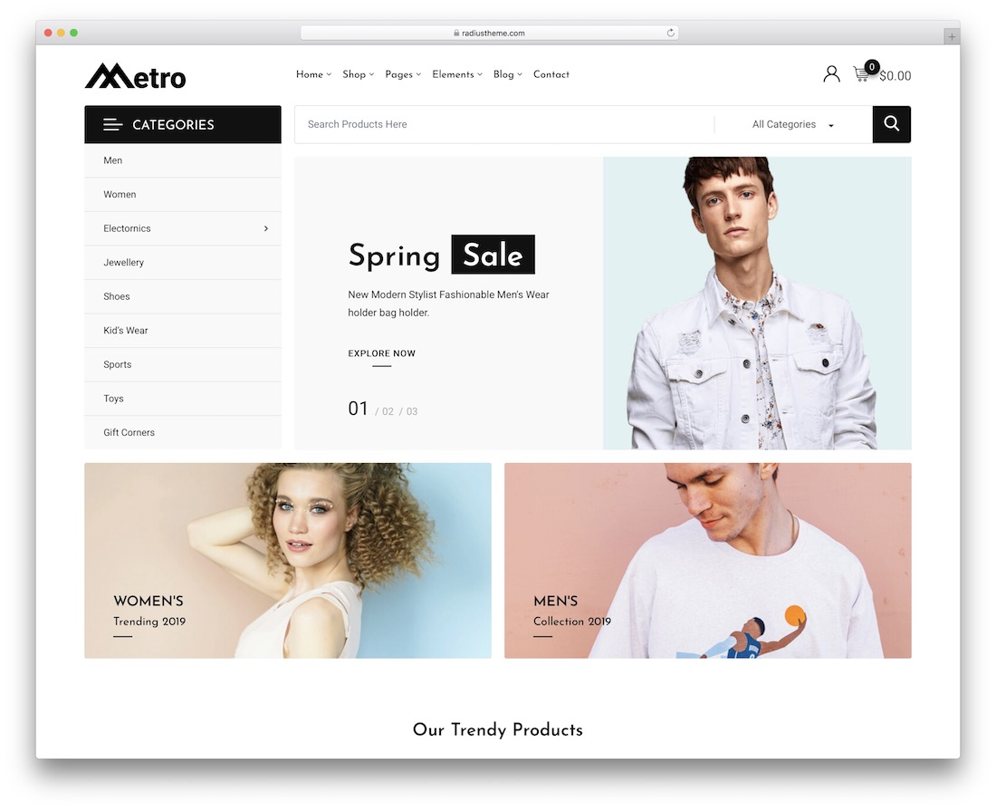metro ecommerce wordpress theme