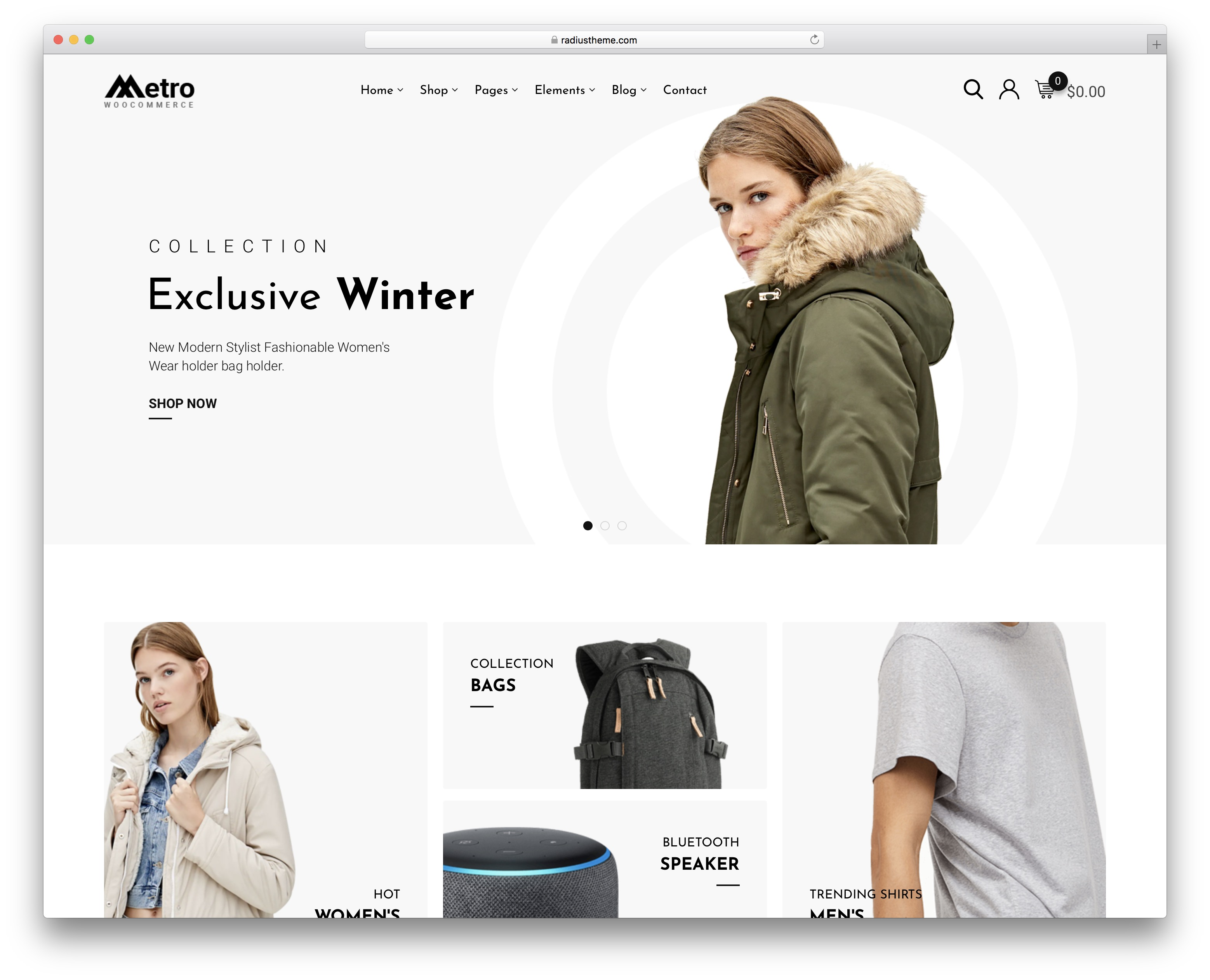 metro minimalist wordpress theme