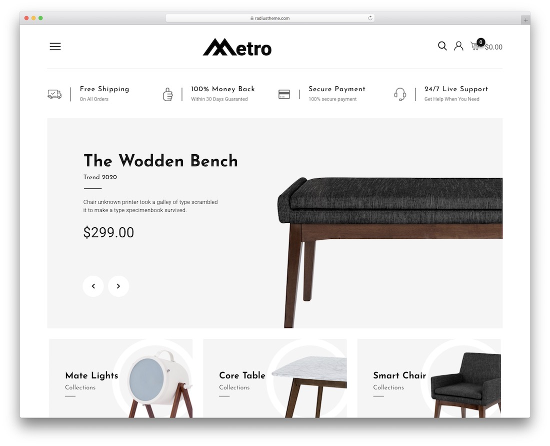 metro wordpress theme