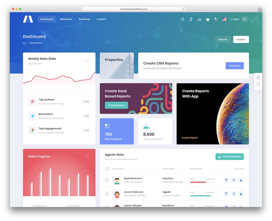 metronic bootstrap template