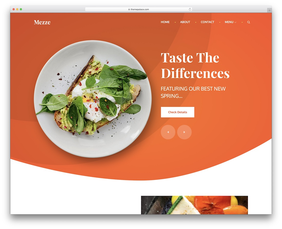 mezze free restaurant wordpress theme