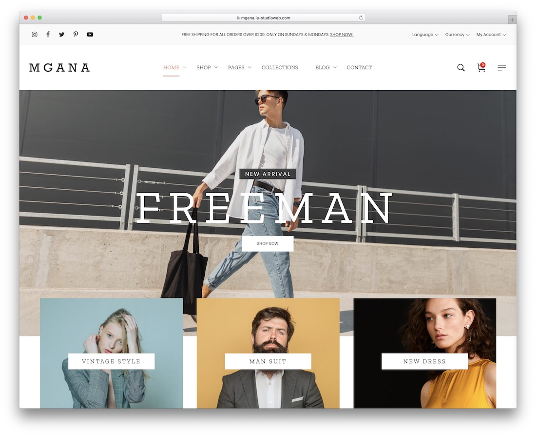 mgana ecommerce wordpress theme