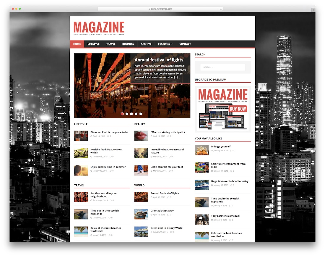 mh magazine free html5 website template